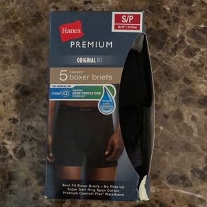 New Men's Hanes Premium Boxer Briefs size S/P